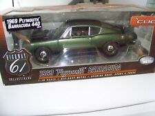 HIGHWAY 61 50570 1969 69 PLYMOUTH BARRACUDA 440 1/18 DIECAST MODEL CAR GREEN