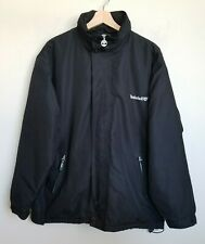 Timberland Performance Black Jacket Collar Hood Zip Front Pockets Lined Size XL