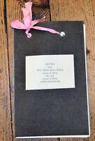 Lyric Hammersmith The Beggar's Opera Ephemera 1922 - Handmade Motif Scrapbook