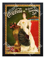 Historic Coca-Cola 1900s Advertising Postcard