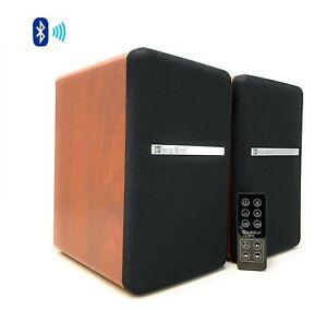 Wood SINGINGWOOD BT25 Powered Bluetooth Studio Monitor Bookshelf Speaker Cherry