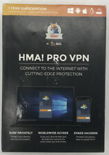 HMA! By AVG Pro Vpn 1 Year Subscription Compatible With Mac/PC/Android