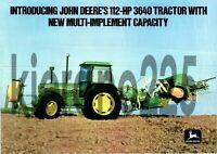 A3 John Deere 3640 Tractor Poster Sales Brochure Advertisement Britains Farm
