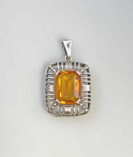 99825471 Old citrine-pendant 835 Silver