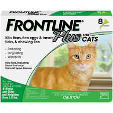 Frontline Plus Flea and Tick Control for Cats and Kittens 8 Doses Month Supply