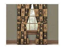 Browning Country Rod Pocket Drapes - Rustic Cabin Hunting Decor Window Treatment