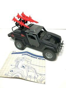 1984 GI Joe Cobra Stinger Vehicle & Blue Print 100% Complete