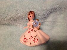 Vintage Josef Originals April Birthday Girl Figurine Holding Rhinestone