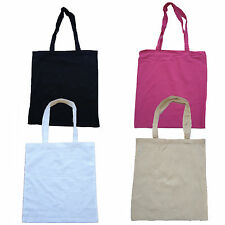 NATURAL COTTON TOTE SHOPPER BAG- VARIOUS COLOURS - LOW PRICE