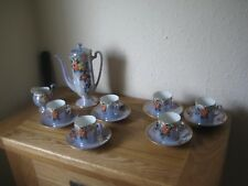 Foreign Marked Lustre Ware Coffee Pot, Cups, Saucers and a Milk Jug Beautiful