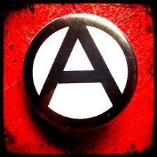 ANARCHY SYMBOL BUTTON BADGE Anarchist Punk Rock Socialist Communist Rebel Chaos