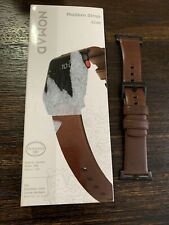 Nomad - Leather Watch Strap for Apple Watch 42mm Brown with Black Lugs PREOWNED!