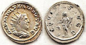 Imperio Romano-Filipo I. Antoniano. 244-247 d. C. Roma EBC-/XF-. Plata 4,2 g.