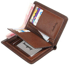 Men's Leather Bifold Credit ID Card Holder Wallet Coin Pocket Billfold Purse