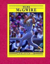 1991 Fleer Mark McGwire #17