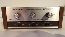 Realistic Four Channel Synthesizer Quatravox Stereo Switch Tested, working