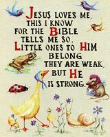 JESUS LOVES ME - 8  x 10 Print