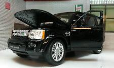 Land Rover Discovery 4 TDV6 Noir 2015 1:24 à l'échelle miniature détaillé Engin