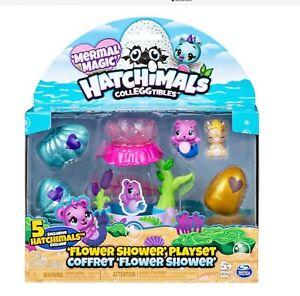 Hatchimals CollEGGtibles Mermal Magic Flower Shower Playset with 5 Exclusive