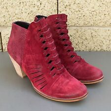 Free People Loveland Red Suede Bootie SIZE 39