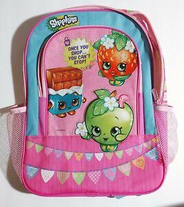 Shopkins School Backpack Book Bag Moose Enterprise Pink 2013 pink and blue