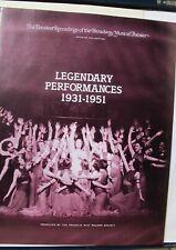 Franklin Mint Broadway Collection Legendary Performances 1931-51