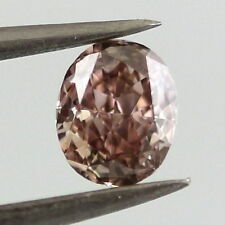 Real 0.52ct Natural Loose Fancy Brown Purple Pink Diamond 100% All Natural Oval
