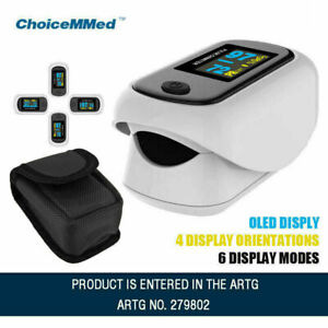 Fingertip Pulse Oximeter OLED Blood Oxygen Saturation Monitor with Carry Case