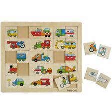 Beleduc Transport Match & Mix Puzzle 30 Teile Kinder Holz Lernspielzeug 11007