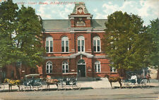 Hagerstown MD * Court House and Horse Drawn Carriages  ca. 1908