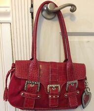 Kathy Vanzeeland Red Handbag Crystals Heart Keychain Tassels