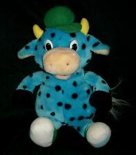 "15"" VINTAGE 1997 SIRLOIN STOCKADE STOCKY JR BLUE BULL STUFFED ANIMAL PLUSH TOY"