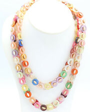 Vintage 1960s Handmade Button Necklace