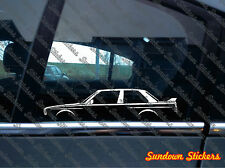 2x car silhouette stickers - For BMW E30 M3