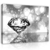 Leinwand Bild Wandbilder Bilder XXL Abstrakt Kunst 3D Diamant Wohnzimmer 84