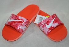 Nike Girl's Kawa Orange/White/Red Slide Print Sandal (GS/PS)