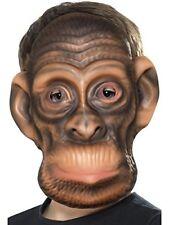 Smiffys Déguisement Unisexe enfant Masque de Chimpanzé Taille Unique couleu