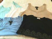 """Womens Avenue  Tank Top Lot (5) Pieces. Variety of Colors """"Spring, Summer"""" 2X"""