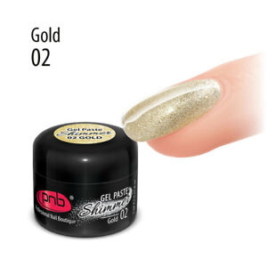 NEW! Shimmer Gel Paste PNB Colour Gel Nail Polish 5ml