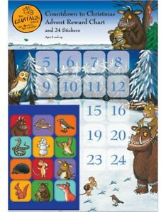 THE GRUFFALO's CHILD Countdown to Christmas Advent Reward Chart and 24 Stickers