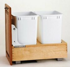 REV-A-SHELF PULLOUT WASTE DOUBLE BIN,DOOR MOUNT,35 QT DOUBLE BIN,RS4WC.18DM2