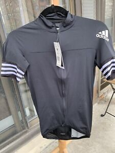 Adidas Adistar Maillot Cycling Form Fitting Jersey Mens Black Sz M NEW*CV7089