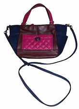 Coach Park Quilted Color Block Carrie Leather Mini Tote bag new