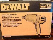 "Dewalt Dw292K 1/2"" (13 mm) Reversing Impact Wrench W/ Dent Pin Retainer."