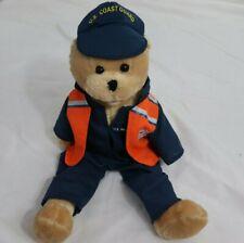 "US Coast Guard American Heroes Singing Bear Khaki Blue Orange 18"" Kids Toys"