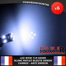 6 Veilleuses LED W5W T10 Canbus ANTI ERREUR ODB 6500k XENON 8 SMD voiture moto