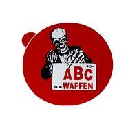 Aufkleber ABC Waffen Skelett