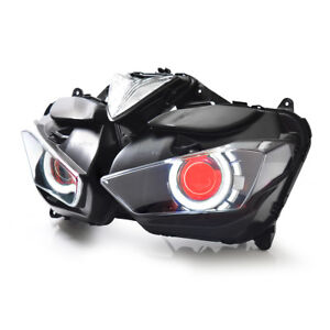 KT LED Headlight Assembly for Yamaha YZF R3 2015 2016 2017 2018 Red