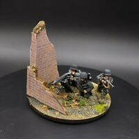 Painted 28mm Bolt Action german mg42 heavy machine gun team and base