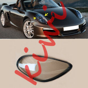 For Porsche Boxster 2012-2016 Right Side Headlight Lens + Glue Replace